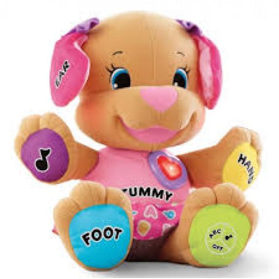 Cachorro de Pelúcia Musical Aprender e Brincar Tummy
