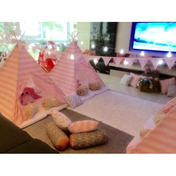 Tenda - Cabana Rosa Listrada